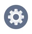White gear wheel icon over blue vector image vector image