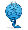 Yoga ball cartoon character tree pose