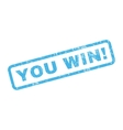 You Win Rubber Stamp vector image