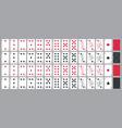 simple poker cards full set in modern vector image