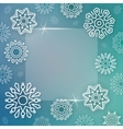 Abstract Christmas background with linear vector image vector image