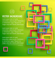 abstract clean geometric template vector image vector image