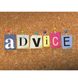 Advice Concept vector image vector image