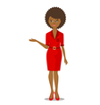 african black woman in red vector image vector image
