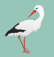 an of a stork vector image vector image