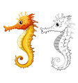 animal outline for seahorse vector image vector image