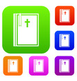 bible set color collection vector image vector image