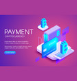 bitcoin card payment vector image