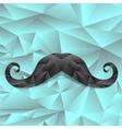 Black Polygonal Mustache vector image vector image