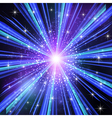 Blue Light rays with stars vector image vector image