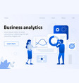 business analytics work optimization flat banner vector image