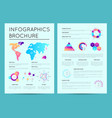 business presentation template with infographics vector image vector image