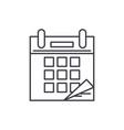 calendar time line icon concept calendar time vector image vector image