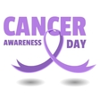Cancer Awareness Day vector image vector image