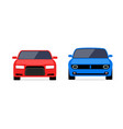 car front view flat icon car parking vector image