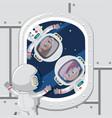 children astronauts in space vector image