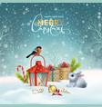 christmas holiday card vector image vector image