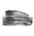 colosseum an immense amphitheater built vintage vector image vector image