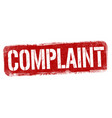 complaint sign or stamp vector image vector image