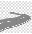 Curving winding road or highway with center vector image vector image