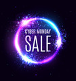 cyber monday sale on circle background vector image vector image