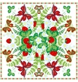 Decorative color floral background strawberry vector image vector image