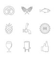 Delicacy icons set outline style vector image