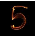 digit in fire vector image vector image