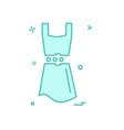 dress icon design vector image