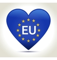 European union flag in heart shape vector image