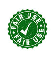 fair use grunge stamp with tick vector image