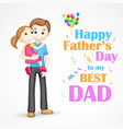 Father and daughter in in Fathers Day vector image