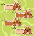 Four cute cartoon Kangaroos stickers vector image