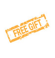 free gift stamp sticker rubber ink sign shopping vector image vector image