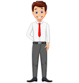 funny business man cartoon vector image