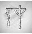gallows icon vector image vector image