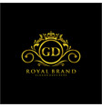 gd letter initial luxurious brand logo template vector image vector image