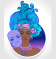 gemini astrological sign as a vector image