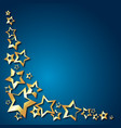 gold stars for congratulations vector image vector image