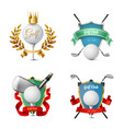 golf emblems set vector image