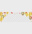 happy birthday gold confetti celebration vector image vector image