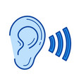 hearing line icon vector image
