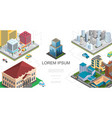 isometric city landscape composition vector image