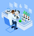 isometric concept laboratory exploring new vector image