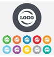 Logo sign icon Place for logotype vector image