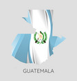 map guatemala vector image
