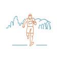 marathon runner running neon sign vector image