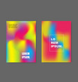 modern abstract covers set vector image vector image