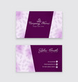 modern floral business card template vector image vector image