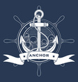 Nautical logo with a lighthouse and anchor vector image
